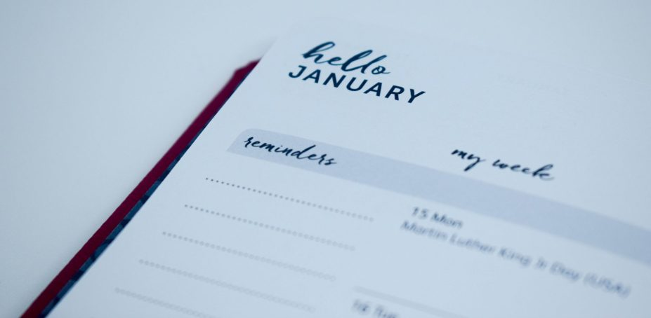 Busy B 2018 Family Diary - hello january