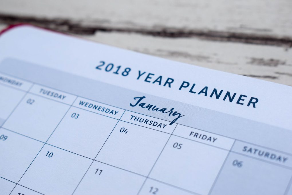 Busy B 2018 Family Diary - yearly planner layout