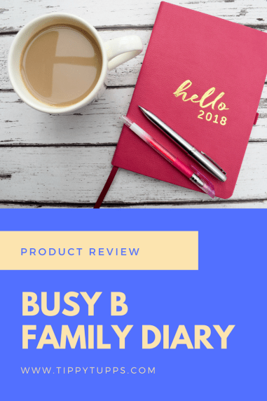 Busy B 2018 Family Diary - pinable image