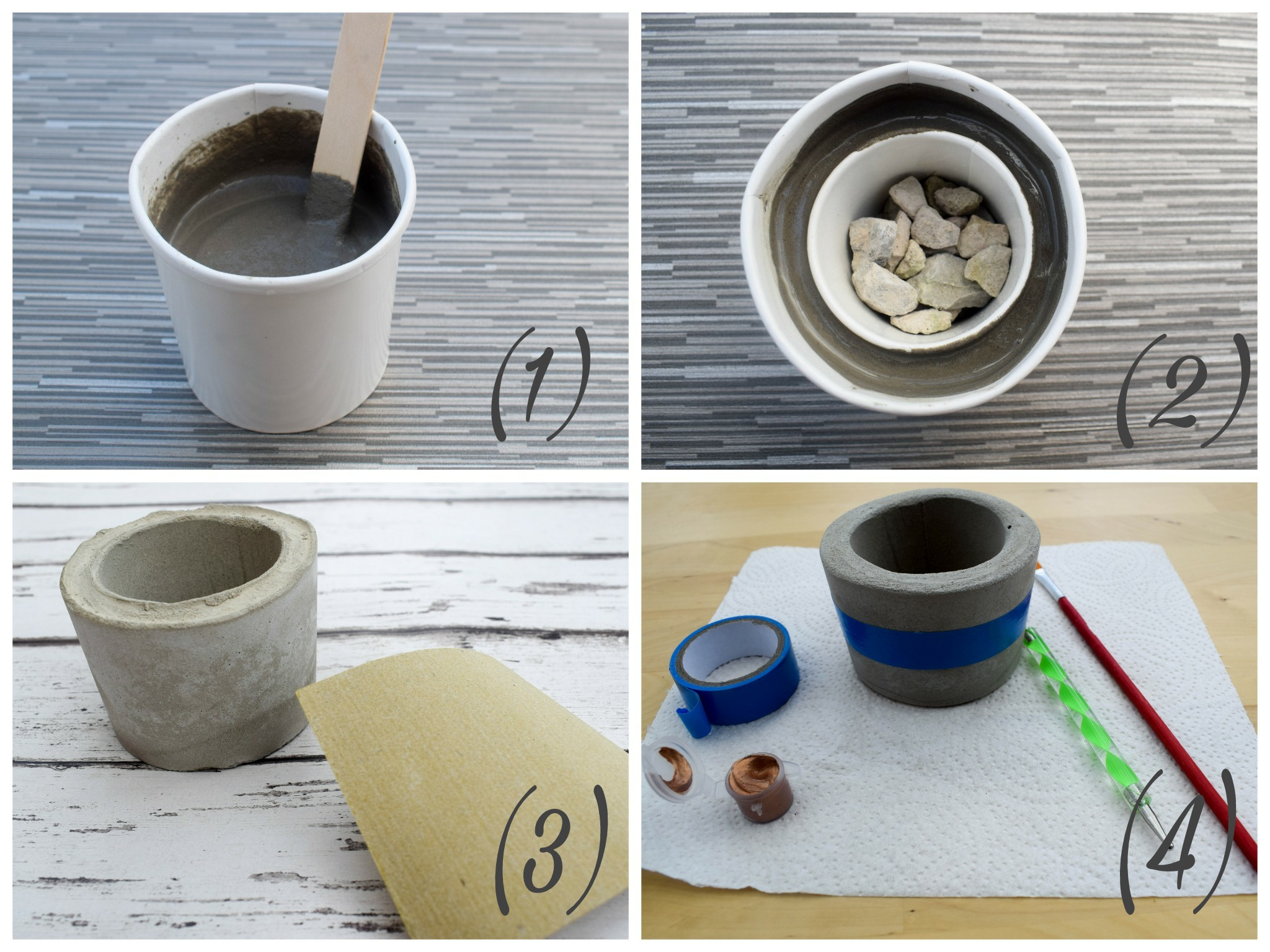 concrete planter kit - how to in pictures