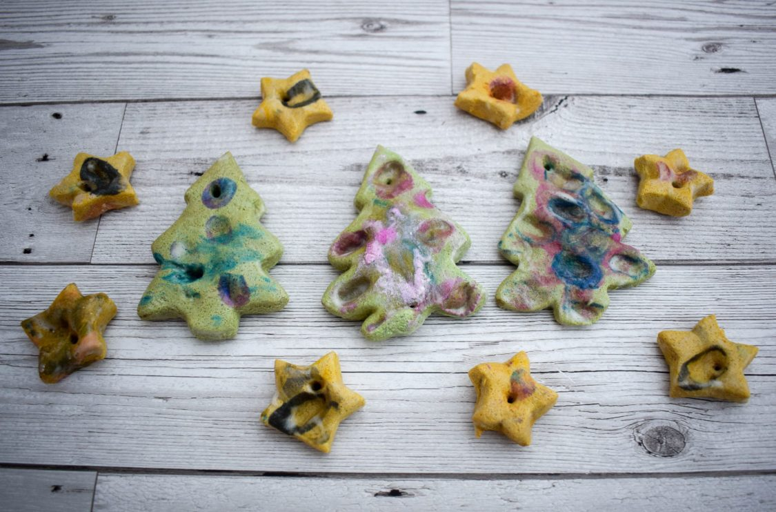 salt dough trees - seeing trees and stars