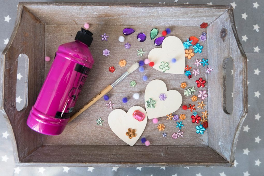 Handmade Mothers Day - love heart magnets - what you need