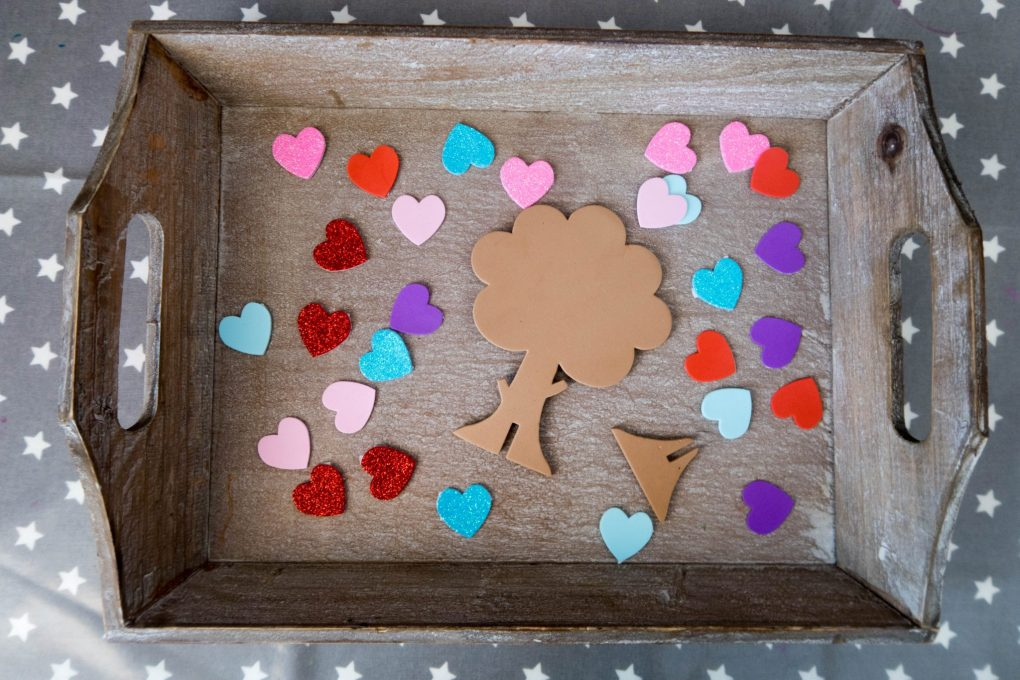 Handmade Mothers Day - love heart trees - what you need