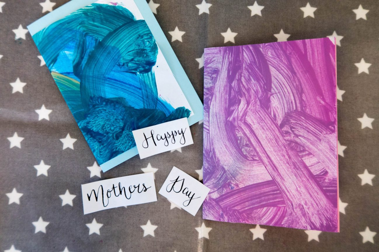 Toddler Crafts - Abstract Mother's Day Card - ready to put together