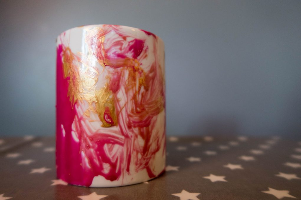 Handmade Mothers Day - decorated mug - the end result