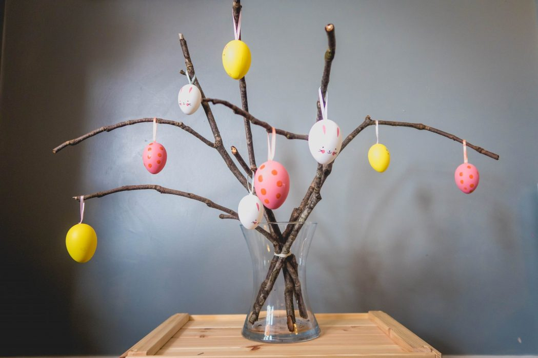 make your own easter tree - the end result