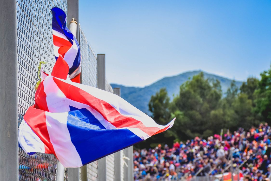 F1 Fun at the Spanish Grand Prix - a flag in the sun