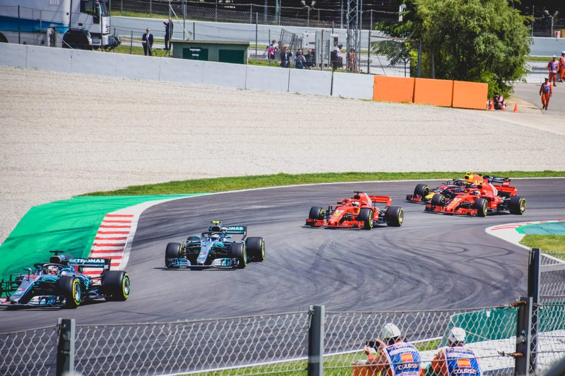 F1 Fun at the Spanish Grand Prix - the race in action