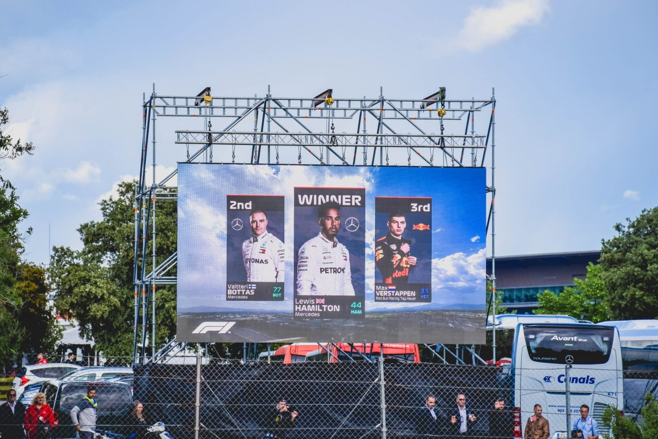 F1 Fun at the Spanish Grand Prix - the finishing result
