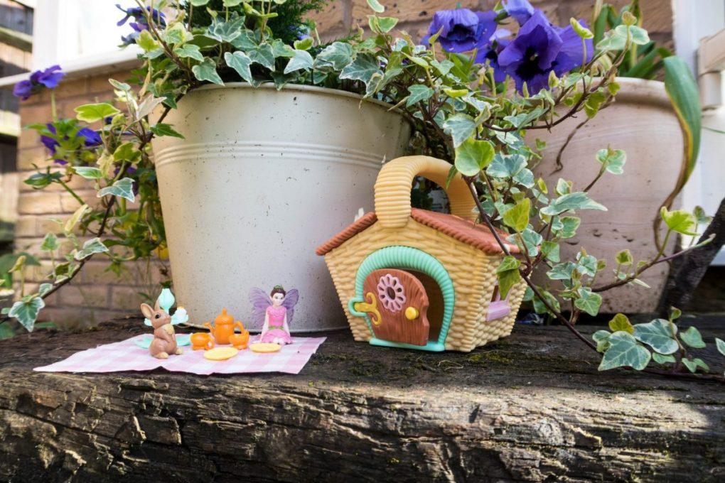 Just Add Fairy Dust with My Fairy Garden - set up ready for tea