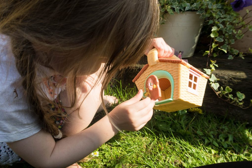 Just Add Fairy Dust with My Fairy Garden - a picnic basket in play