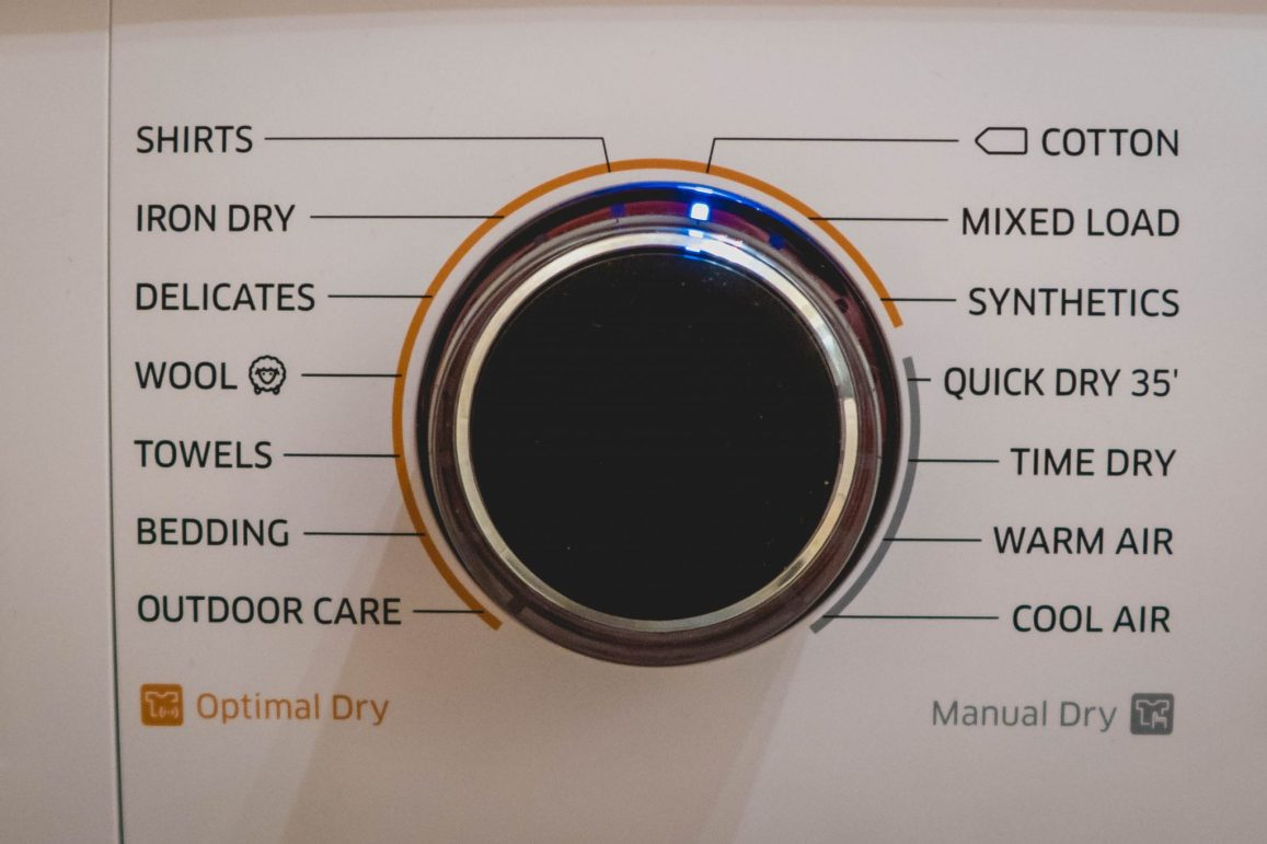 Samsung Heat Pump Tumble Dryer - close up