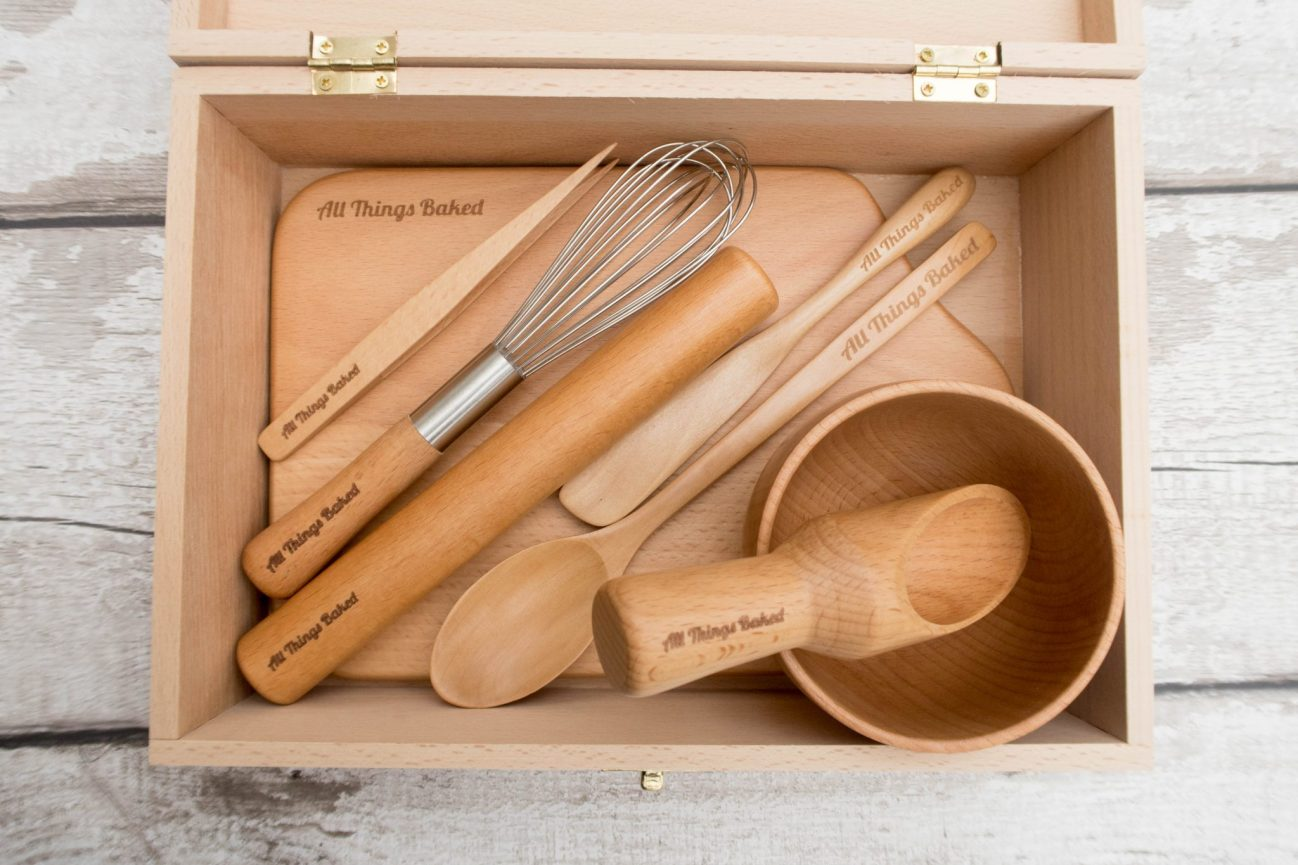 All Things Baked - wooden baking set