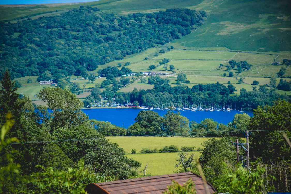 Camping in Ullswater - the quiet site - the view
