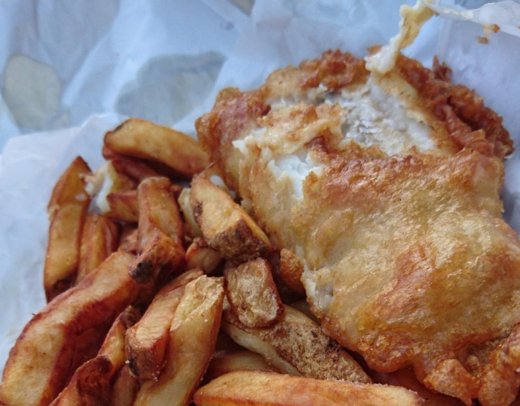 Our Pocket Guide to Bluestone Wales - fish and chips for tea!