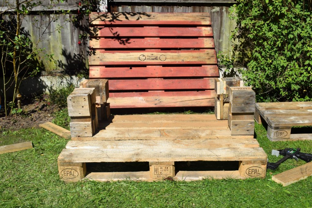 How To Make a Mud Kitchen - starting to come together