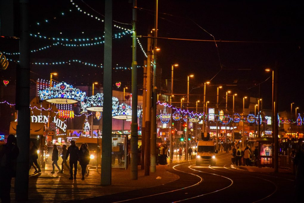 Blackpool illuminations - a scene from the prom