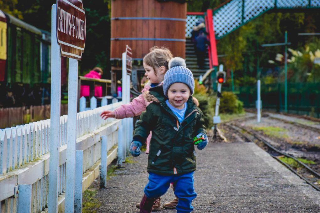 Conwy Valley Railway Museum - running on the platform