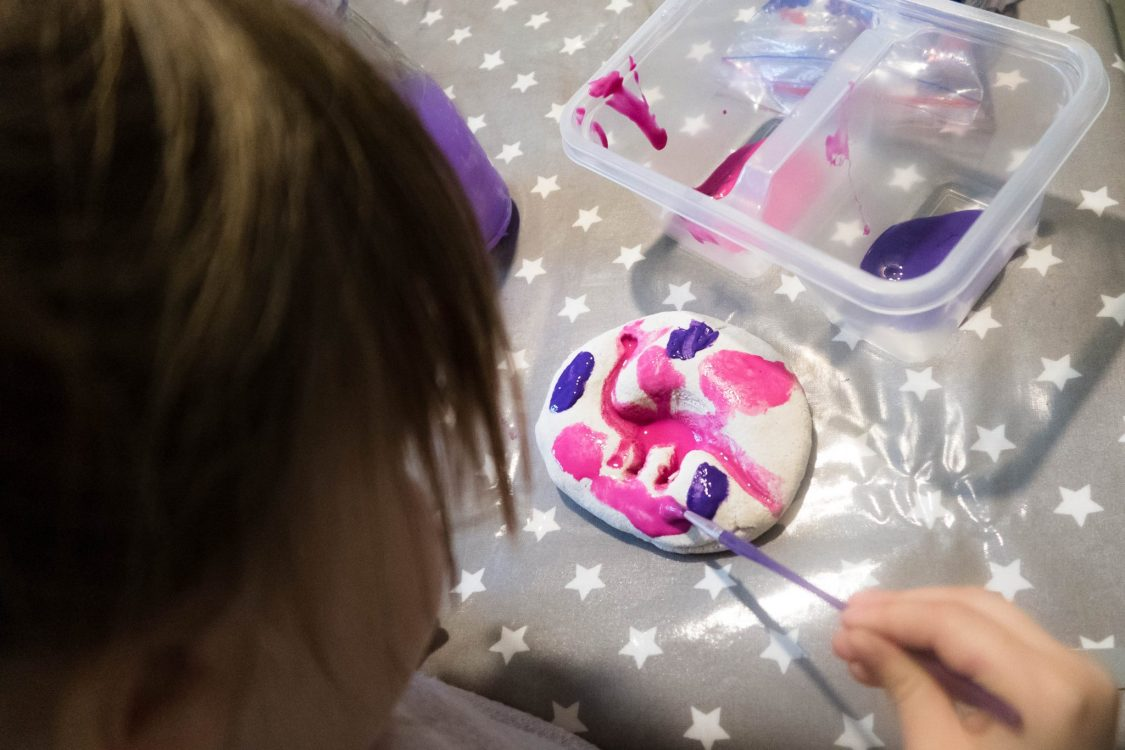 Make Your Own Dinosaur Fossils - lets get painting
