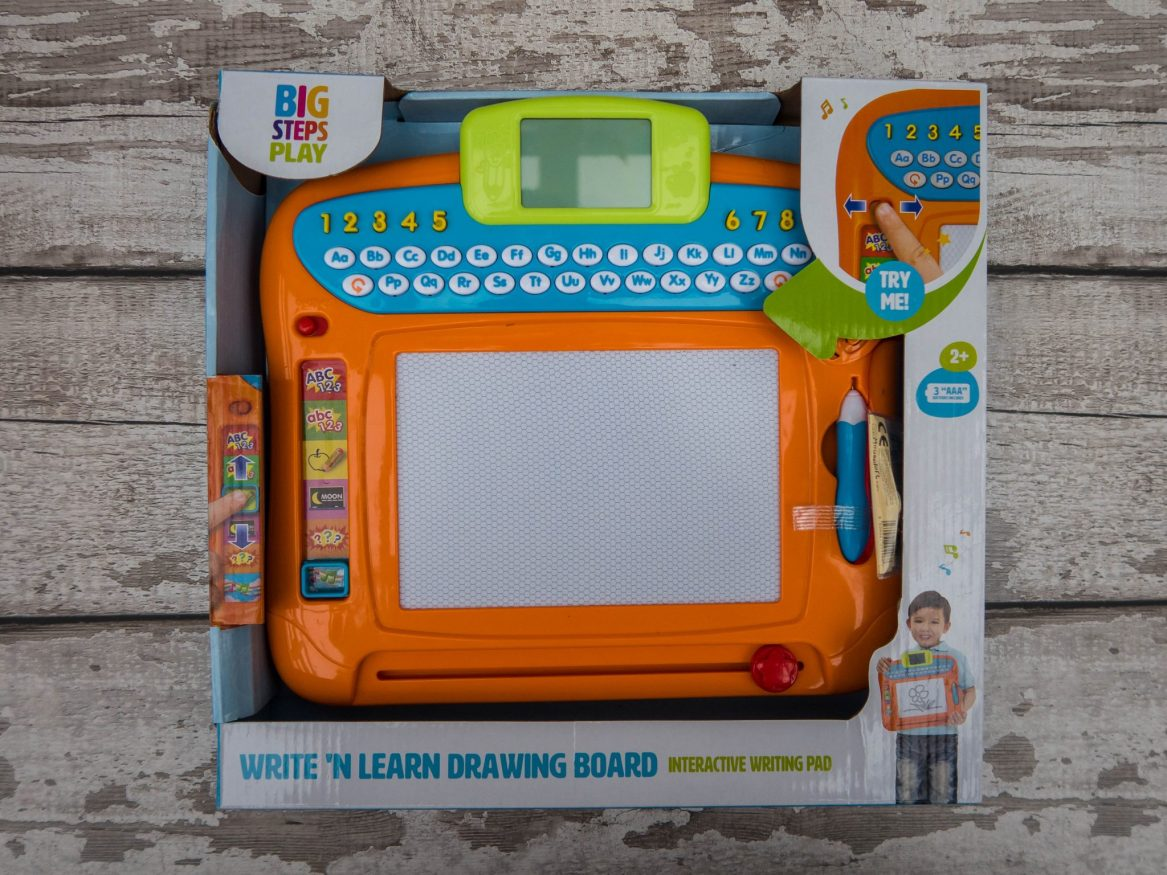 Learning A to Z with the Write 'N Learn Drawing Board - the product