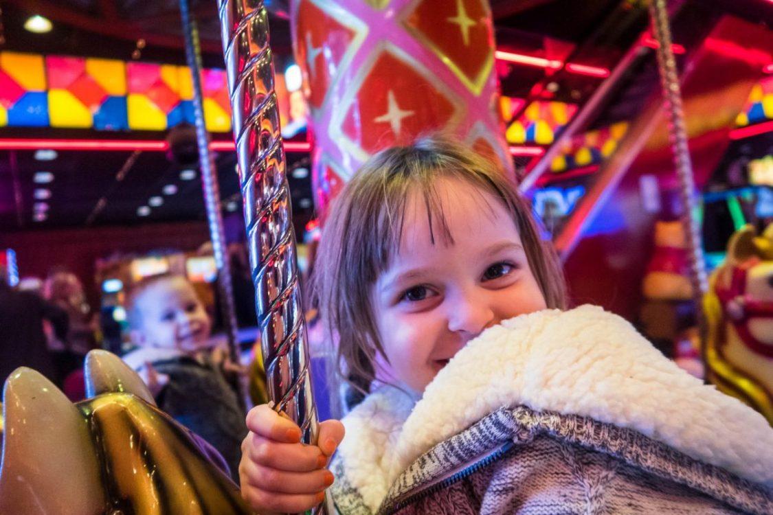 Blackpool illuminations - a ride in the amusements