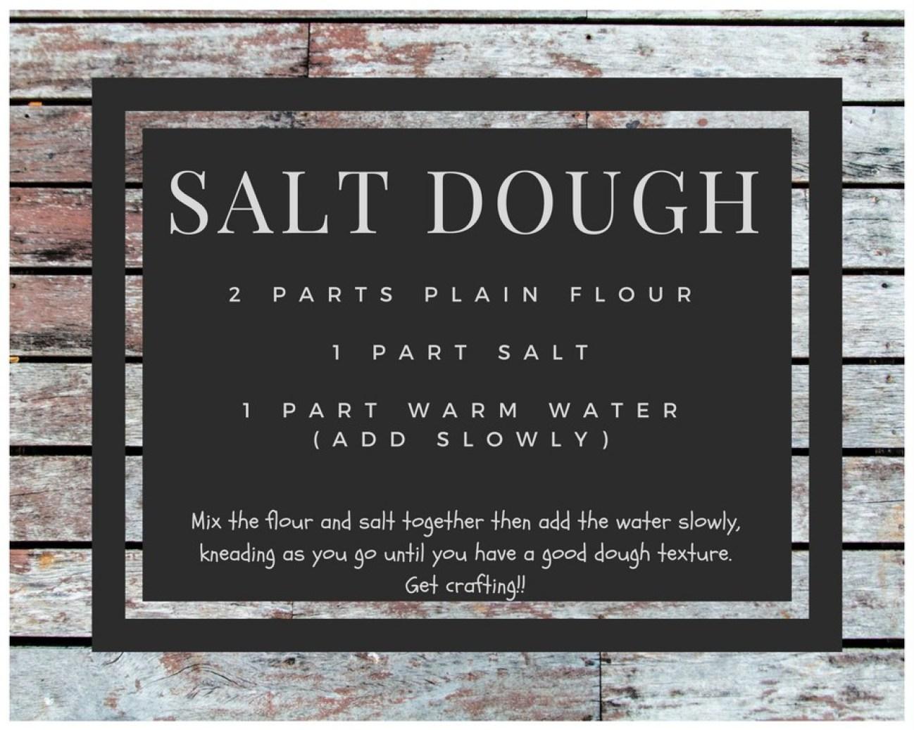 Make Your Own Dinosaur Fossils - salt dough recipe