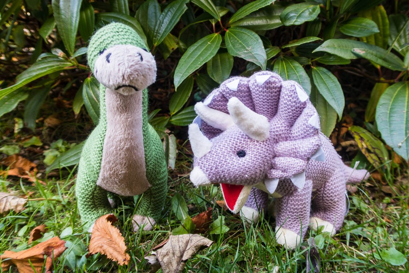 The Wonderful World of Wilberry - knitted dinosaurs