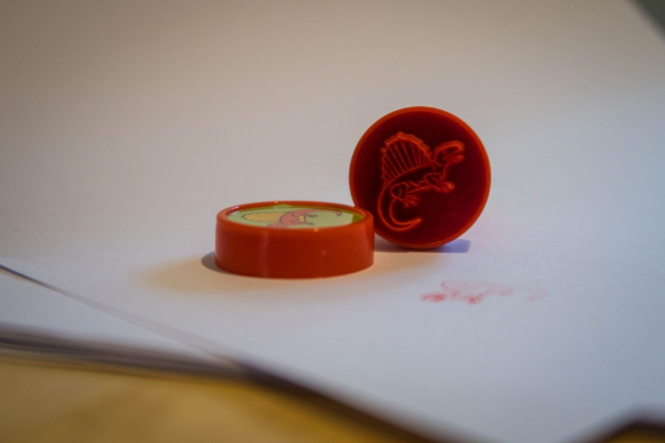 Dinosaur Crafts - dino stamps