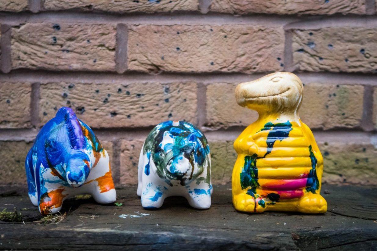 Dinosaur Crafts - our dinosaur money banks