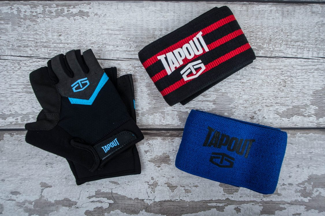 Getting Fit with TapouT - weightlifting gloves and resistance bands