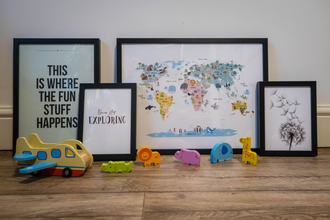 Scandinavian Design with Desenio - in the playroom