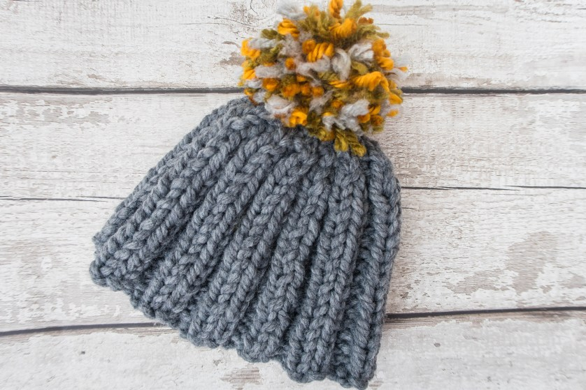 Stash Busting Chunky Bobble Hat – Free Knitting Pattern