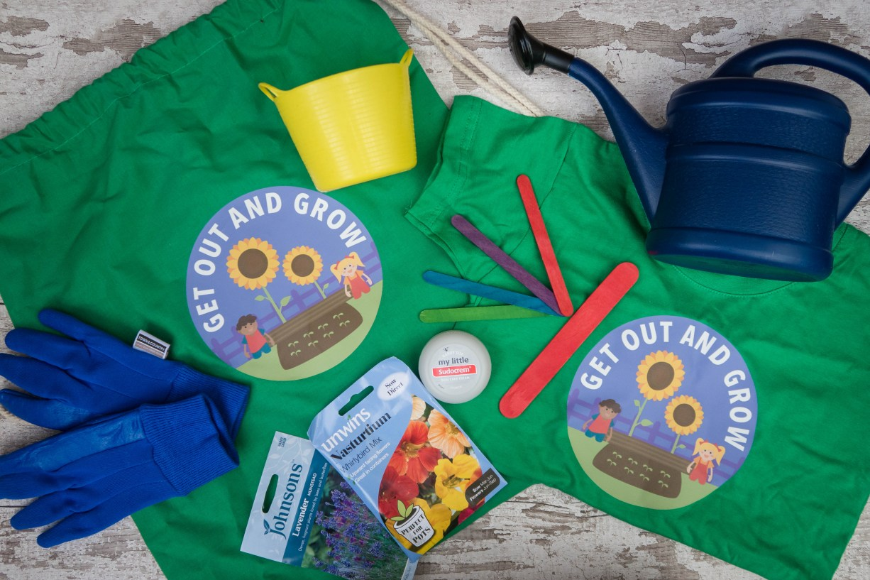 what's inside the Get Out and Grow goody bag