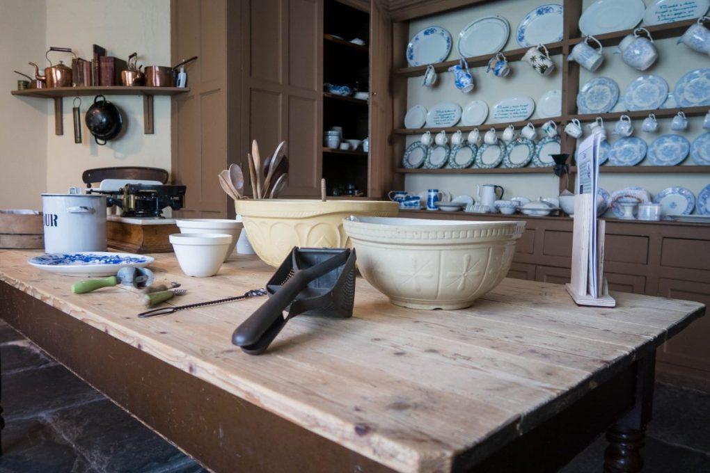 the kitchen at Llanerchaeron