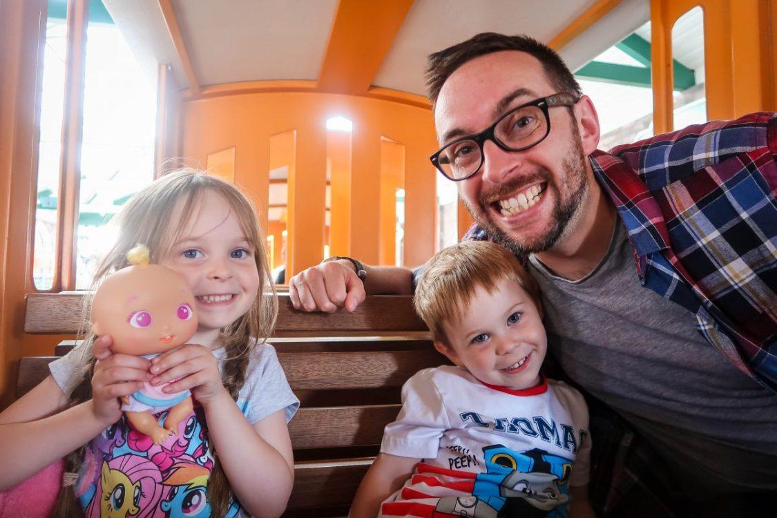 Happy faces at Thomas Land