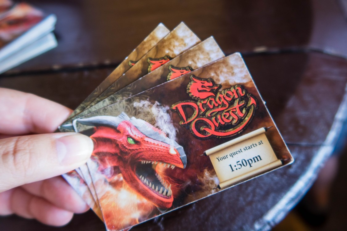 Tickets ready for the Dragon Quest