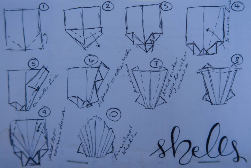 How to make paper shells