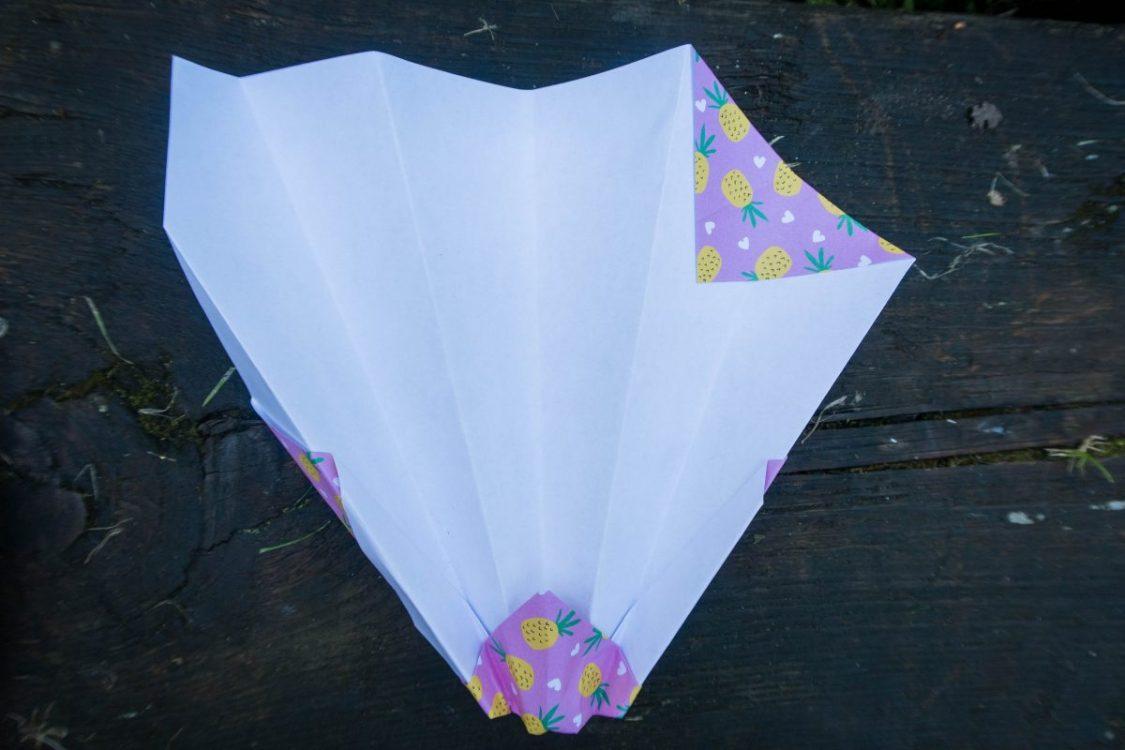 One side folded