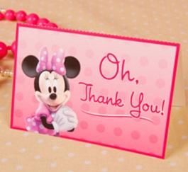 Free Minnie Mouse Thank You Cards Tip Resource