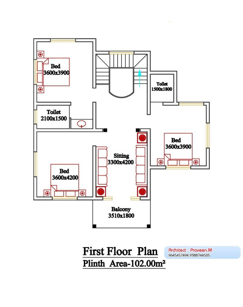 3 Bedroom House Plans In Kerala Double Floor Www