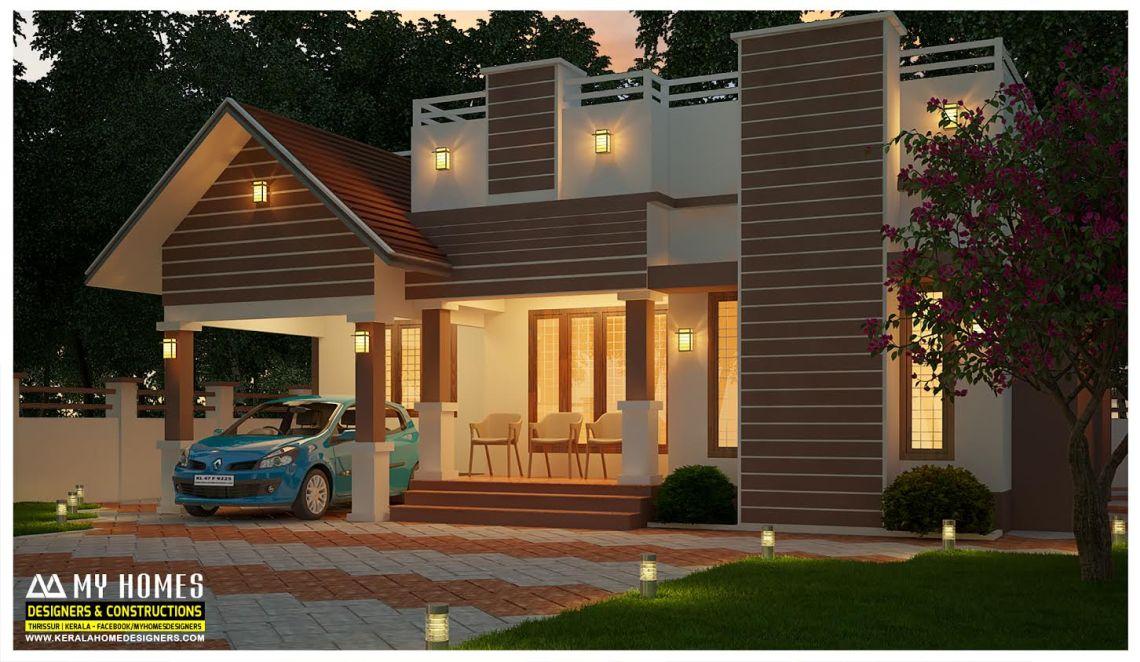 1000 Square Feet 3 Bedroom Single Floor Modern Home Design ...