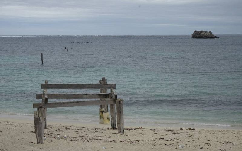 Pontile distrutto di Hamelin Bay Beach a Margaret River