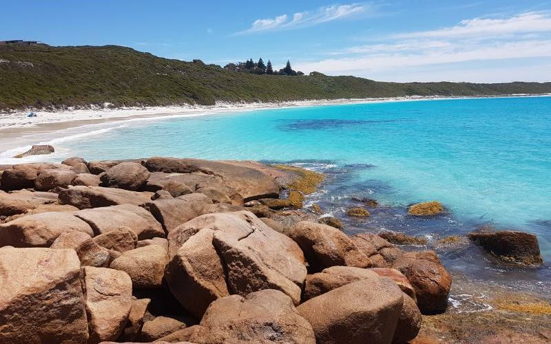 Spiaggia Blue Haven Beach nella Great Ocean Drive di Esperance