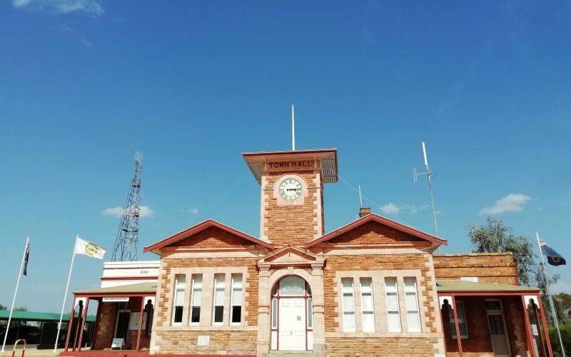 Edificio storico centro di Menzies in Western Australia