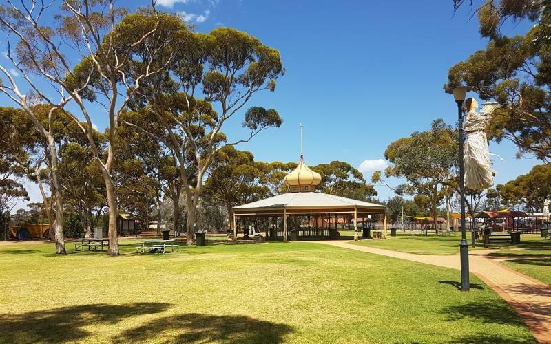 Parco pubblico Hammond Park nel centro di Kalgoorlie