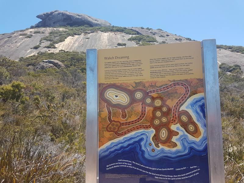 Leggenda aborigena sulla formazione del Frenchman Peak e del Parco Nazionale Cape Le Grand