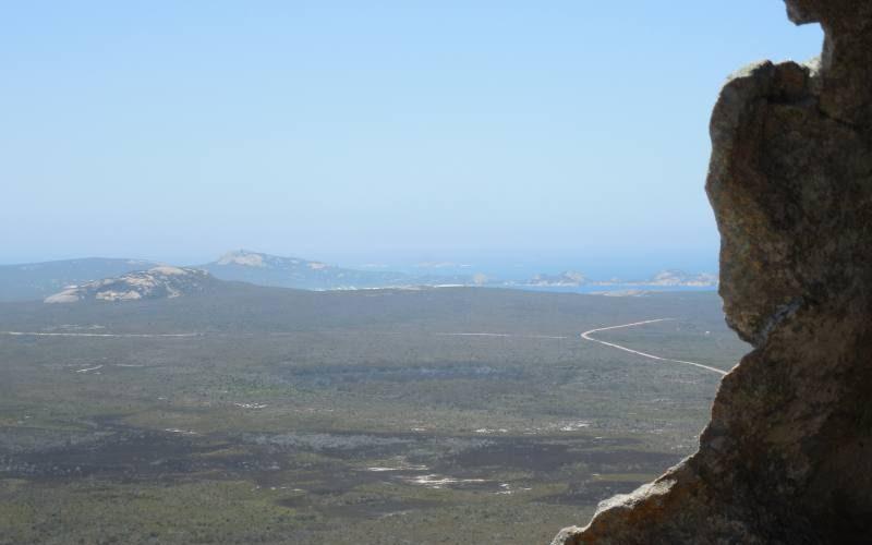 Vista dal riparo durante la salita al Frenchman Peak