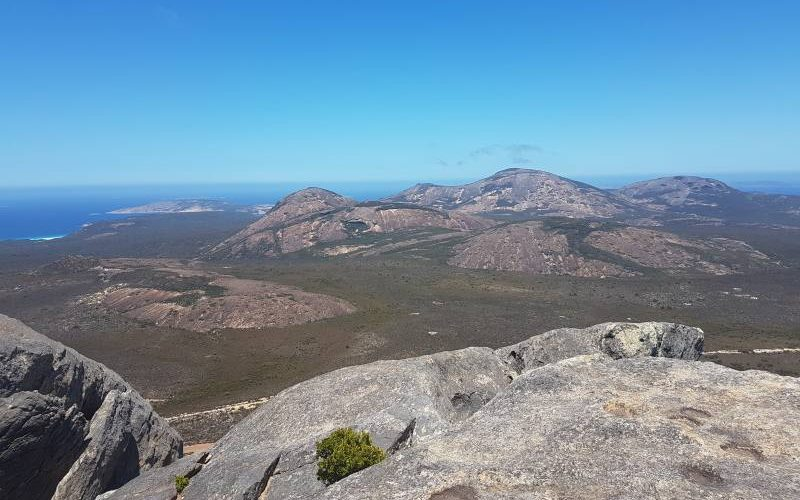 Vista dalla vetta del Frenchman Peak nel Parco Nazionale Cape Le Grand