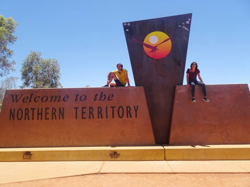 Cartello di confine tra il South Australia ed il Northern Territory