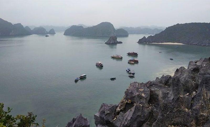 Punto panoramico su Halong Bay in Vietnam
